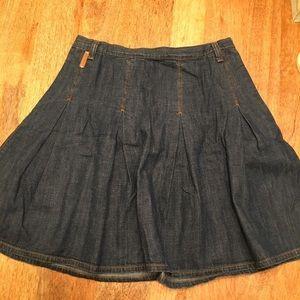 Dolce and Gabbana denim pleated skirt